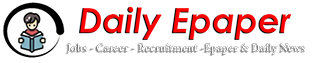 Latest Daily E-Paper Jobs in Pakistan 2020